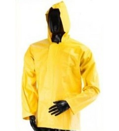 Waterproof Jacket With Hood And Clasp Closure Yellow Synergy Supplies - 1