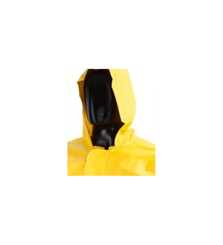 Waterproof Jacket With Hood And Clasp Closure Yellow Synergy Supplies - 2