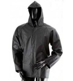 Zipper And Velcro Waterproof Jacket Black Synergy Supplies - 1