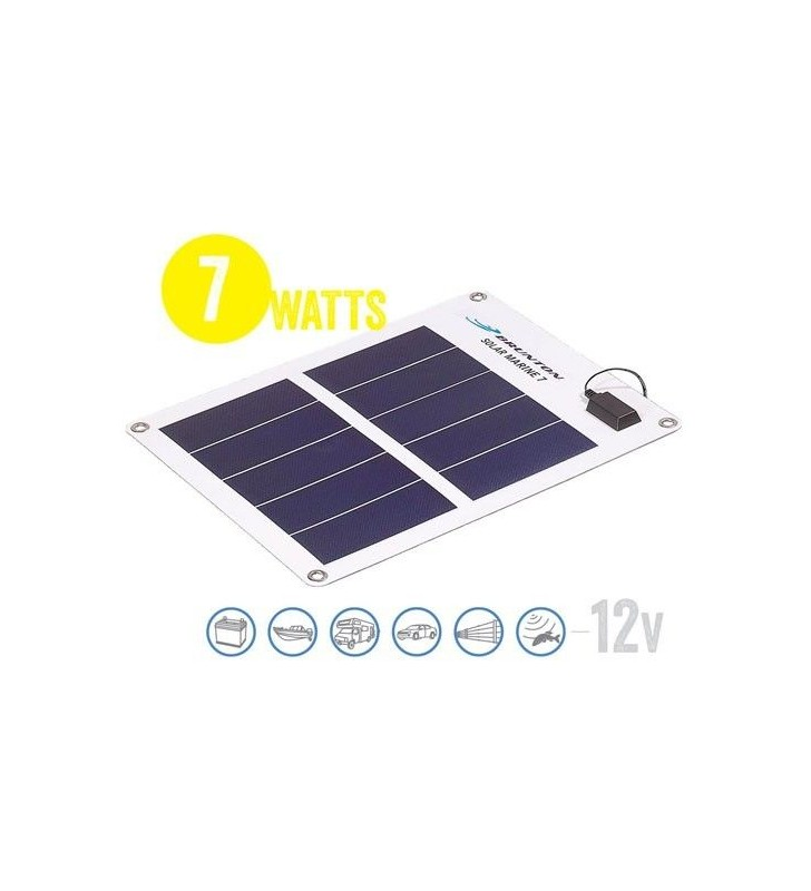 Flexible Solar Panel Waterproof Solar Marine 7 Watt, 12V Brunton - 1