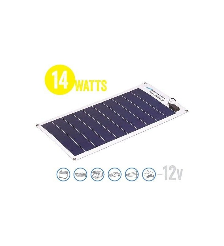 Panel Solar Flexible A Prueba De Agua Solar Marine 14 Watt, 12V Brunton - 1