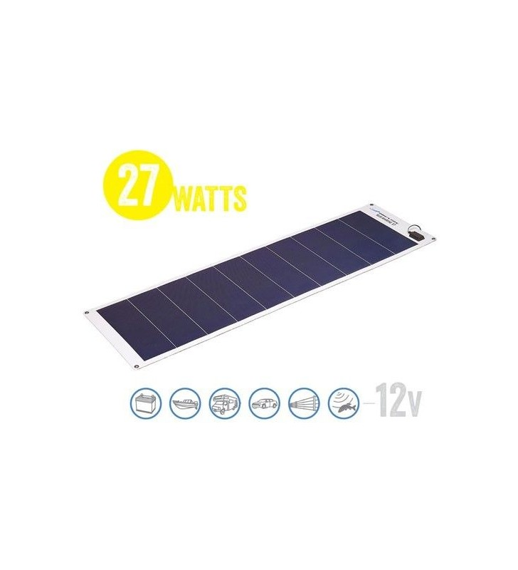 Panel Solar Flexible A Prueba De Agua Solar Marine 27 Watt, 12V Brunton - 1