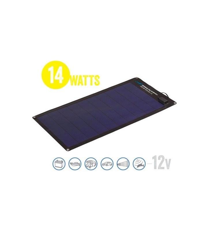 Semi Flexible Solar Panel Solar Board 14 Watt, 12V Brunton - 1
