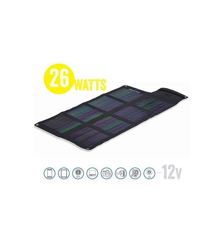 Panel Solar Matriz Solar Plegable Solaris 26 Watt 12V Brunton - 1