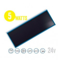 Panel Solar Plano Solarflat 5 Watt, 24V Brunton - 1