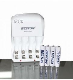 Beston Charger For AA / AAA Batteries Incleye 2 AA Batteries + 2 AAA Batteries REF BST-C804U  - 1