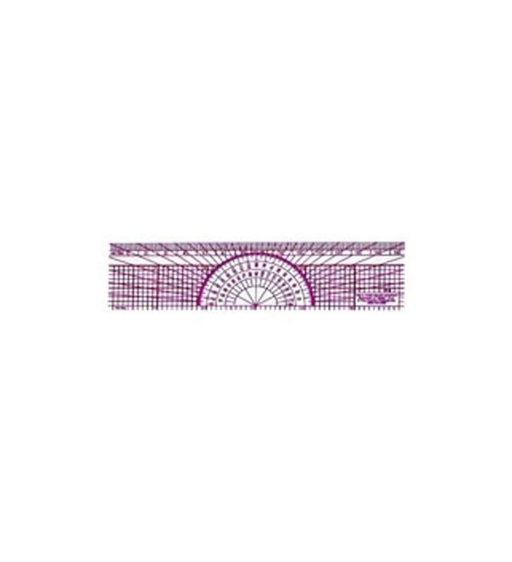 Ruler Protactor W-8 Metric Scale 1: 1 Protractor - 1