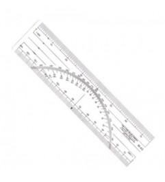 Protractor W-43 Ruler Metric Scales 1: 500 AND 1: 1000 Protractor - 1