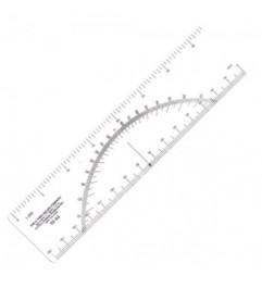 Regla Protractor W-44 Escala Métrica 1:250 Protractor - 1
