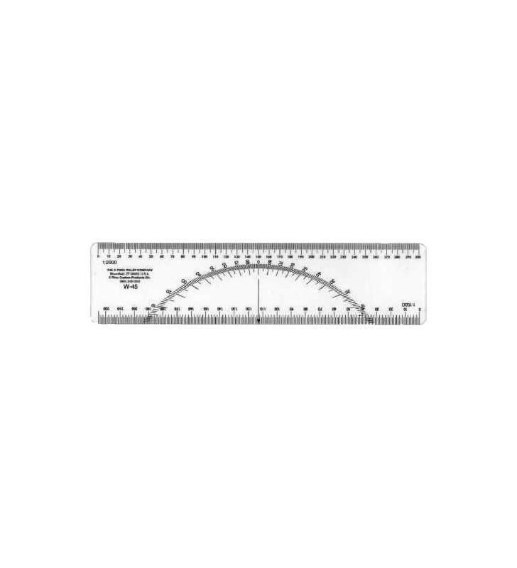 Regla Protractor W-45 Escalas Métricas 1:2000 Y 1:1500 Protractor - 1