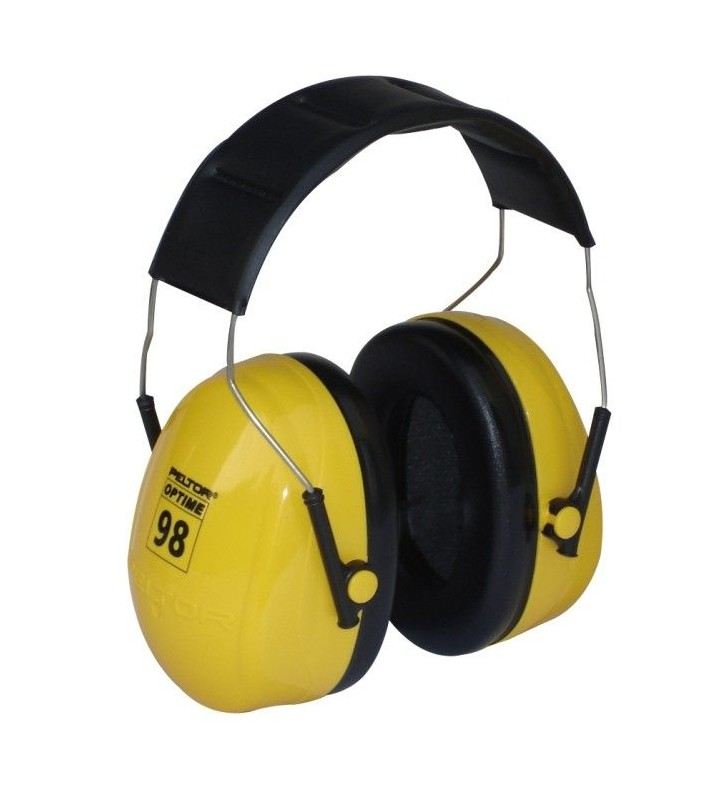 Hearing Protector Headband Type Peltor Cup 3m 25 Db Optime 98 Ref H9a Steelpro - 1