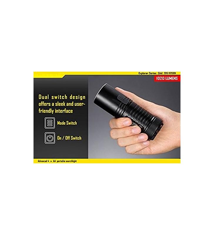 Nicored EA41 Black Flashlight Case Nitecore - 2