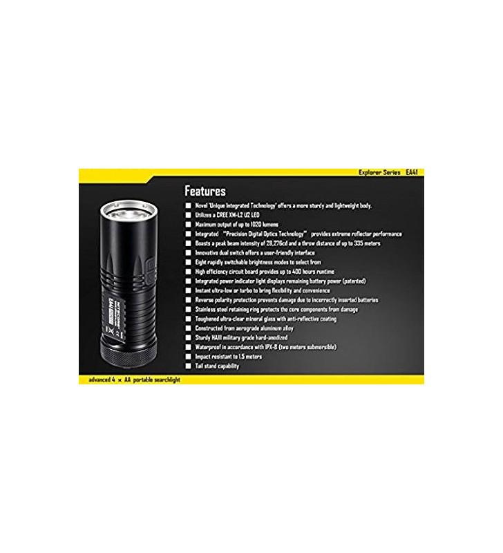 Nicored EA41 Black Flashlight Case Nitecore - 3