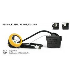 Lampara Minera Kl4ms Bateria Litio Marca Wisdom Con Cargador  - 1