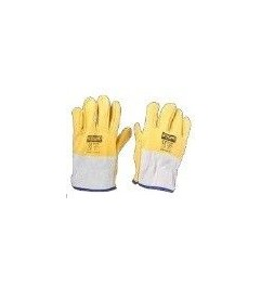 Yellow Driver Leather Glove Steelpro - 1