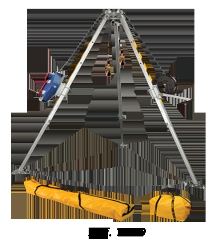Trípode Para Espacios Confinados Con Sistema Doble Polea FallTech 7505 FallTech - 1