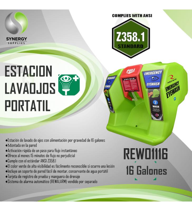 Radians Portable 16 Gl Eyewash Station REW01116 Radians - 2