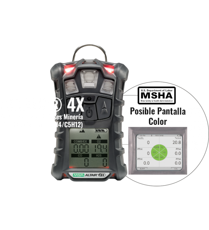 Altair 4X Detectores De 4 Gases Para Minería MSHA MSA - 4