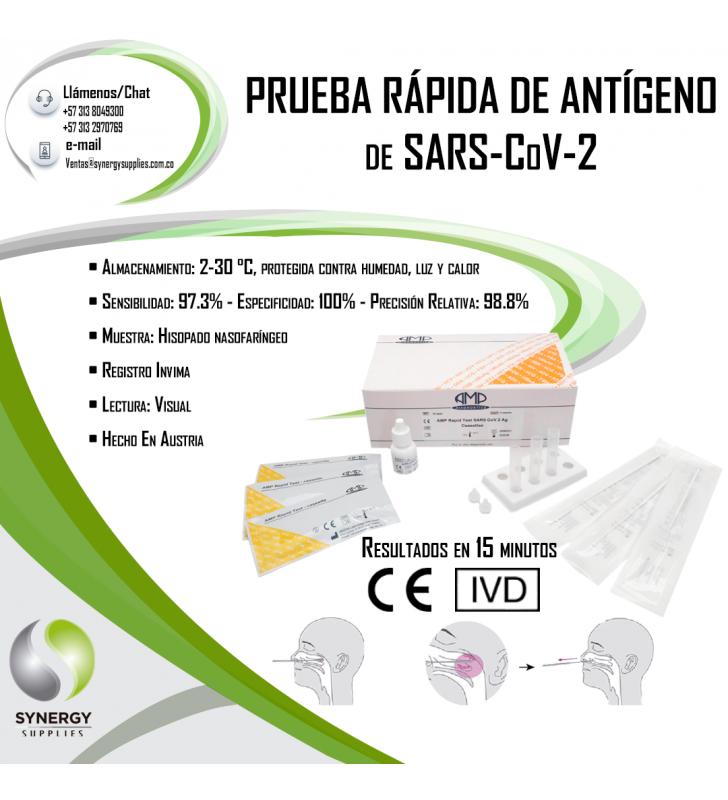 Rapid Test Coronavirus COVID-19 OF ANTIGEN OF SARS-CoV-2 INVIMA AMP Diagnostics - 2