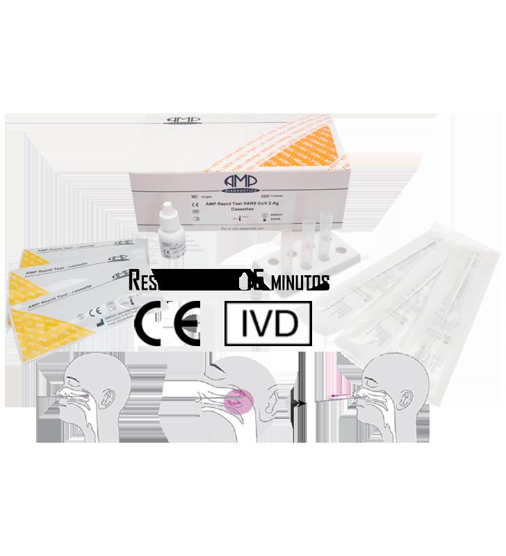 Rapid Test Coronavirus COVID-19 OF ANTIGEN OF SARS-CoV-2 INVIMA AMP Diagnostics - 1