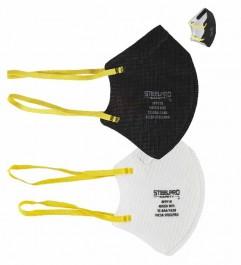 Respirador N95 Steelpro M9910 Plegable Negro y Blanco Steelpro - 1