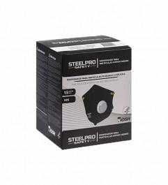 Respirador M9910V Con Válvula N95 Plegable Steelpro Negro Steelpro - 1