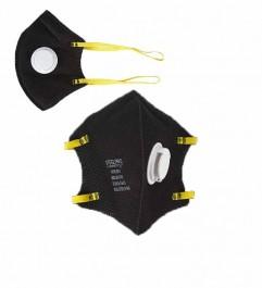Respirador M9910V Con Válvula N95 Plegable Steelpro Negro Steelpro - 2