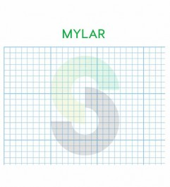 """Grid Drawing Film 2mm MYLAR Paper Sheets Waterproof 11 """"X 17"""" 50 Sheets Notepad Synergy Supplies - 1"""