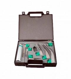 Sun-Med GreenLine D Fiber Optic Laryngoscope Kit 5-5333-48  - 1