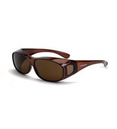Crossfire Glasses OG-3 Brown Lens Brown Glass Frame Crossfire - 1
