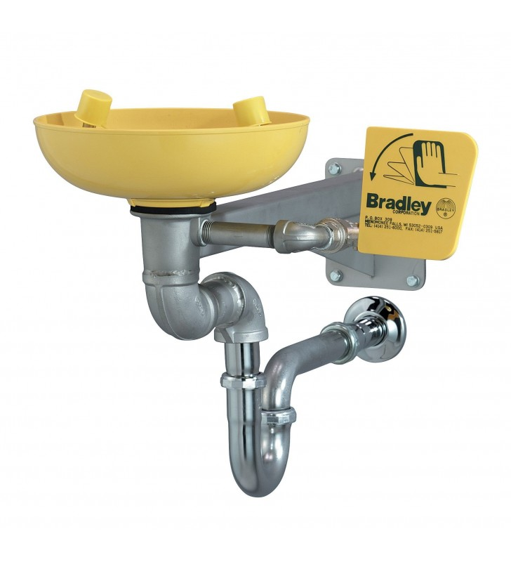 Bradley Industrial Hydraulic Point Wall Mount Eyewash Bradley - 1